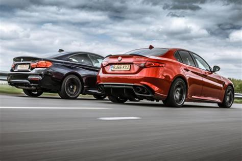 alfa giulia quadrifoglio vs bmw m4 competition la