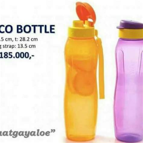 Tupperware Eco 1 Liter tupperware eco bottle 1 liter dapat 2pcs kitchen