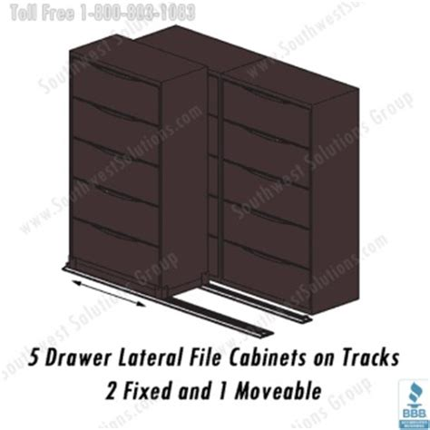 Rolling Lateral Filing Cabinets On Floor Tracks Rolling Lateral File Cabinet