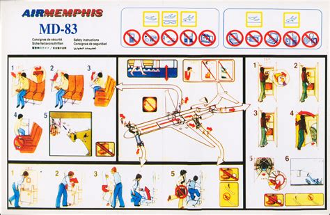 Jaket Bomber Mhemphis safety card air mcdonnell douglas md 83 1