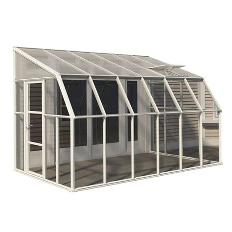 rion sun room 8 ft x 12 ft clear greenhouse 702131 on