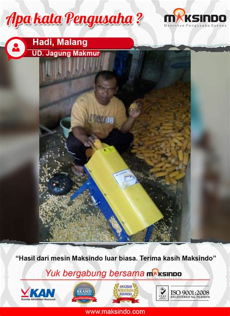 Mesin Pemipil Jagung Maksindo ud jagung makmur mesin pipil jagung luar biasa toko