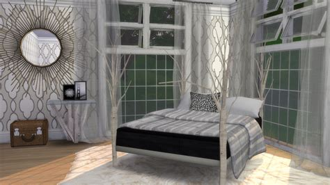 tree bed frame my sims 4 blog birch tree bed frame and end table by sims4wonderland