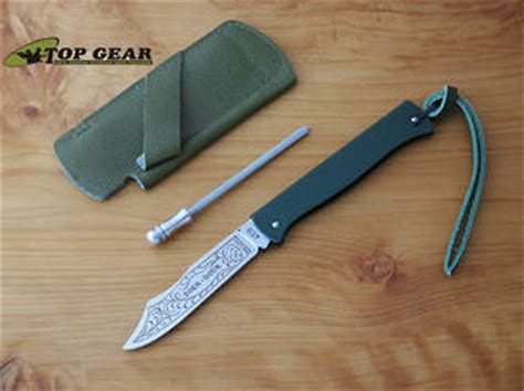 pocket sharpening steel douk douk pocket knife with leather sheath and sharpening