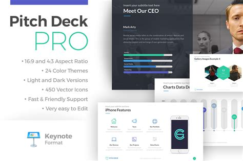 pitch deck template powerpoint pitch deck pro keynote template presentation templates
