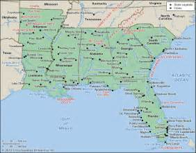Map Of The South Of Usa by United States Deep South Kids Encyclopedia Children