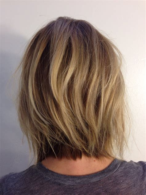 layered neck length bob hairstyles andreamillerhair neck length layers hairstyles