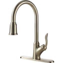 contemporary quot pull out spray kitchen sink faucet brushed nickel vigo chk