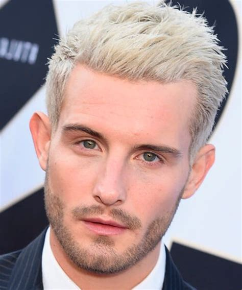 blonde hairstyles  men  medium hair