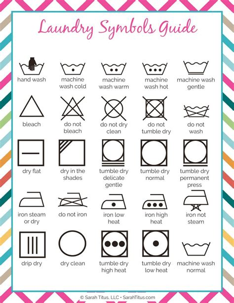 printable laundry instructions cleaning binder laundry symbols guide sarah titus