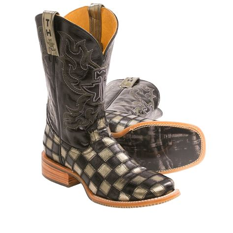 tin haul mens boots tin haul metallic checkerboard cowboy boots for