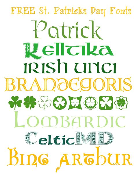 printable irish font free fonts for st patricks day made in a day