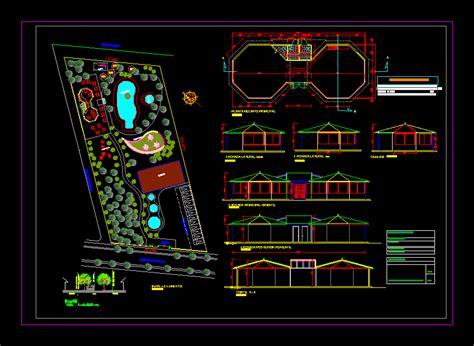 design center cad recreational center 2d dwg design elevation for autocad