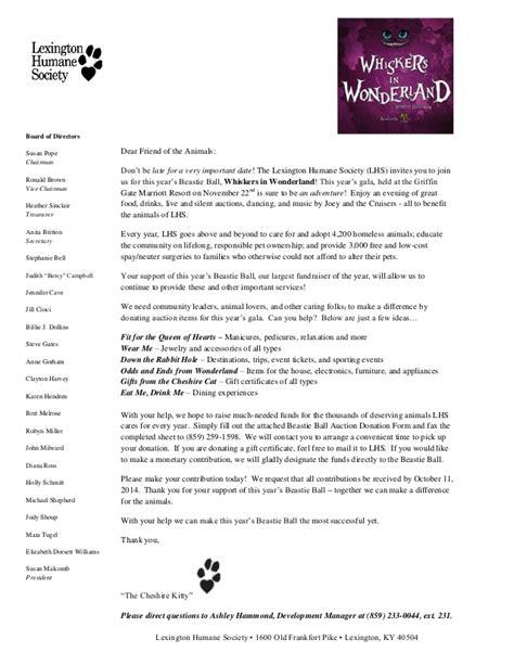Fundraising Letter For Animal Shelter beastie donation request letter