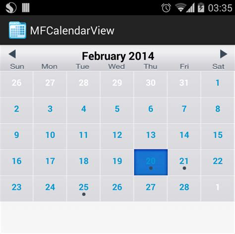 android layout event github mustafaferhan mfcalendarview custom event base