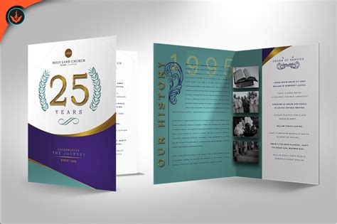 regal church anniversary program photos design bundles