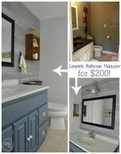 Bathroom Remodel Ideas Budget complete bathroom makeover for 200 budget bathroom remodel