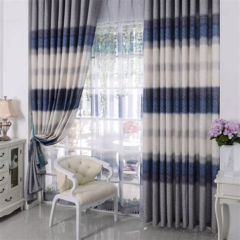 mediterranean style curtains cotton fabric jacquard decorative mediterranean style curtains