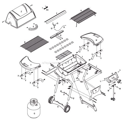 gas grill parts diagram char broil 4638119 parts list and diagram