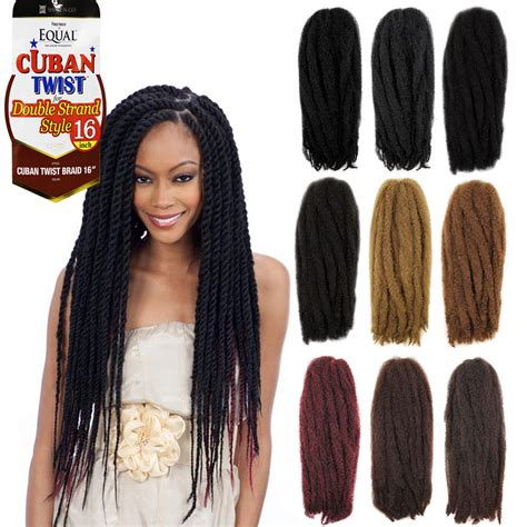 cuban double strand braided in equal cuban twist braid for double strand style synthetic