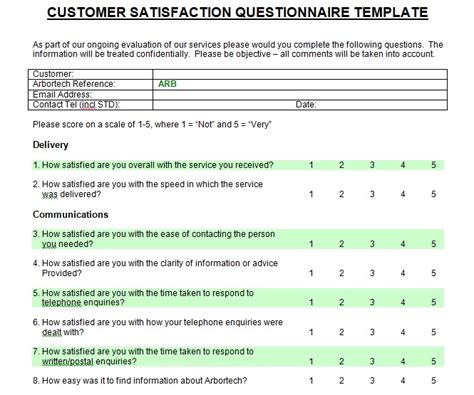 customer satisfaction survey template printable customer satisfaction survey template microsoft