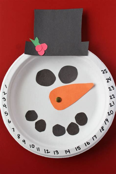christmas countdown craft snowman countdown craft