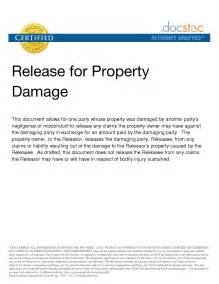 Property Damage Release Form Template property disclaimer template 28 images free release of
