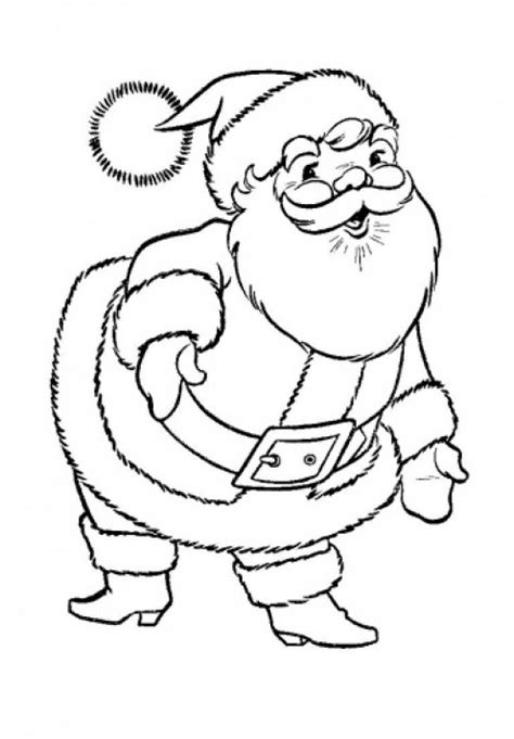 free santa claus coloring pages free christmas colouring pages for children kids online