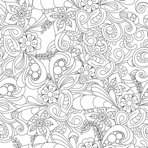 seamless doodle pattern free vector hand drawn doodle pattern in vector zentangle background