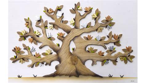 fiori in legno www storticreareinlegno it quadri con alberi e fiori in