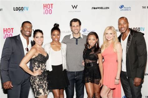 taylour paige hit the floor hit the floor cast attend logos hot 100 party logan browning