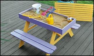 Build A Picnic Table Plans by How To Build A Kids Picnic Table And Sandbox Combo Diy
