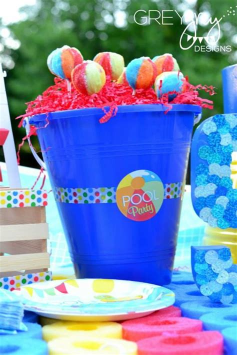 pool party decorations kara s party ideas summer pool party ideas planning cake
