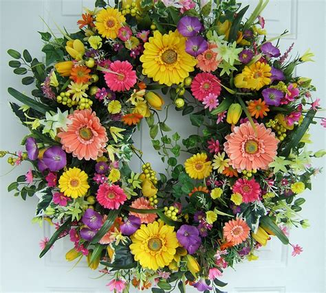 spring wreath xl spring wreath spring door wreath 29 round floral