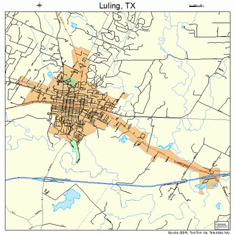 where is luling texas on a map luling texas map 4845096