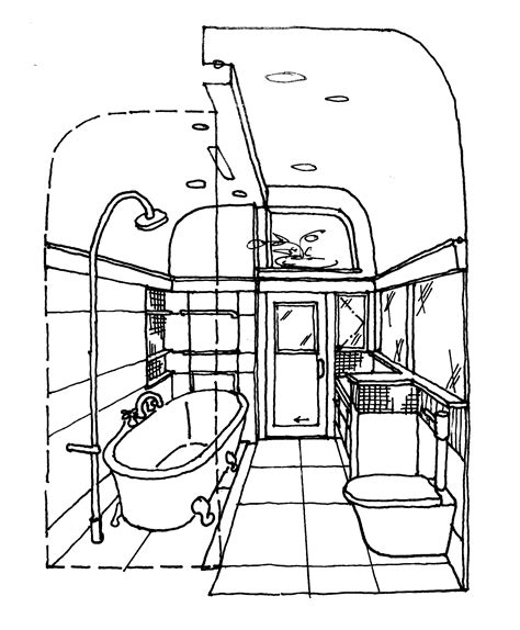 sketch of bathroom sketch of a bathroom home design