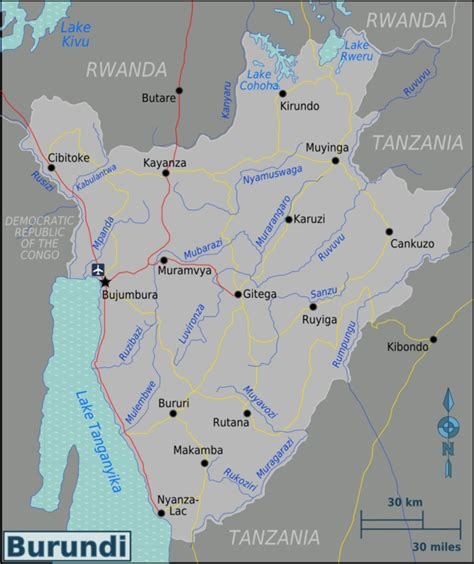 burundi map burundi wikitravel