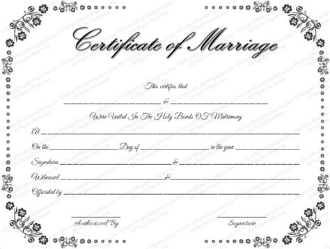 free printable marriage certificate template wedding certificate template 22 free psd ai vector