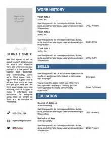 Resume Template Ms Word by Free Microsoft Word Resume Template Superpixel