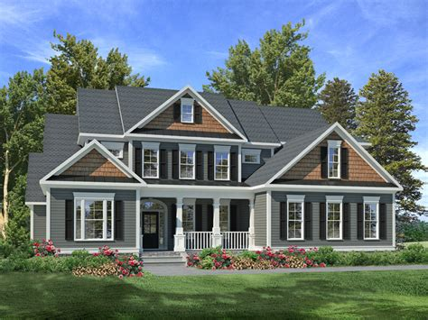 outlook hill craftsman home plan 076d 0205 house plans