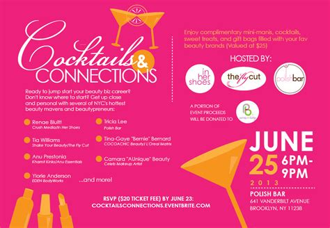 cocktails amp connections a beauty industry mixer tickets