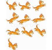 Cat Running Animation  Stock Vector Colourbox