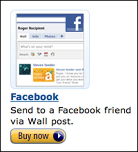 Send Amazon Gift Card Via Email - can i give someone an amazon gift card on facebook ask dave taylor