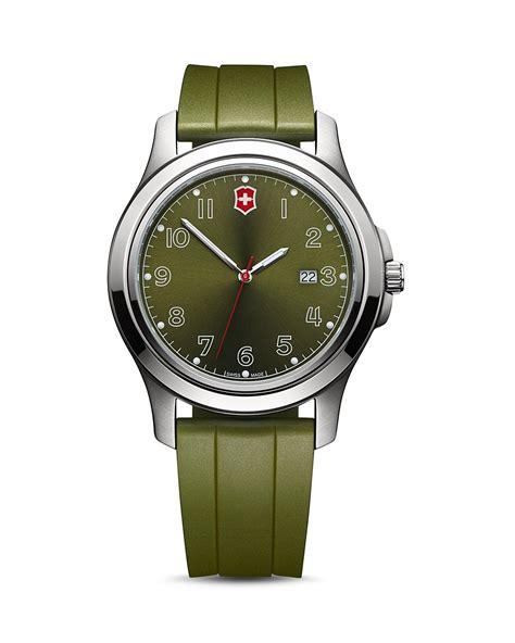 Swiss Army Rubber I Black Green victorinox swiss army garrison date green