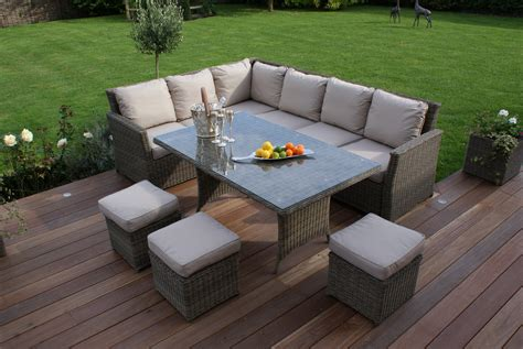 outdoor sofa dining set garden sofa dining set brokeasshome com