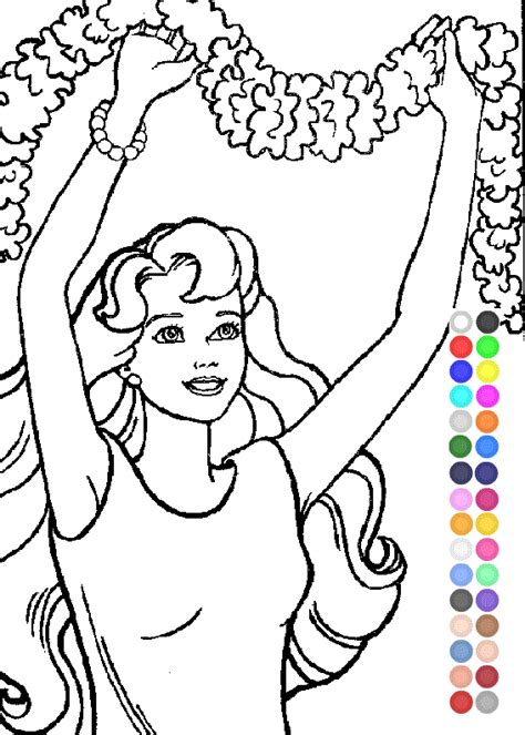 barbie coloring pages games free online coloring games free kids games online kidonlinegame