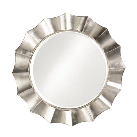 round silver bevelled mirror shop howard elliott corona silver leaf beveled wall mirror at lowes
