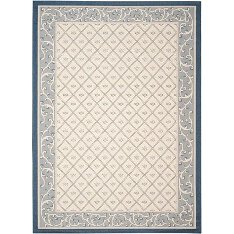 Safavieh Courtyard Indoor Outdoor Area Rug Safavieh Courtyard Beige Navy 9 Ft X 12 Ft Indoor Outdoor Area Rug Cy7427 258a22 9 The Home