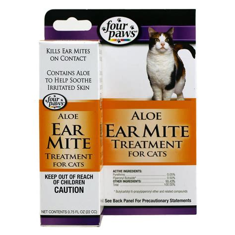 paws treatment four paws 174 earmite treatment for cats petsmartnigeriapetsmartnigeria