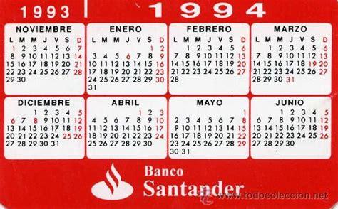 Calendario A O 1994 Calendario Peque 241 O Banco Santander 1993 1994 Comprar